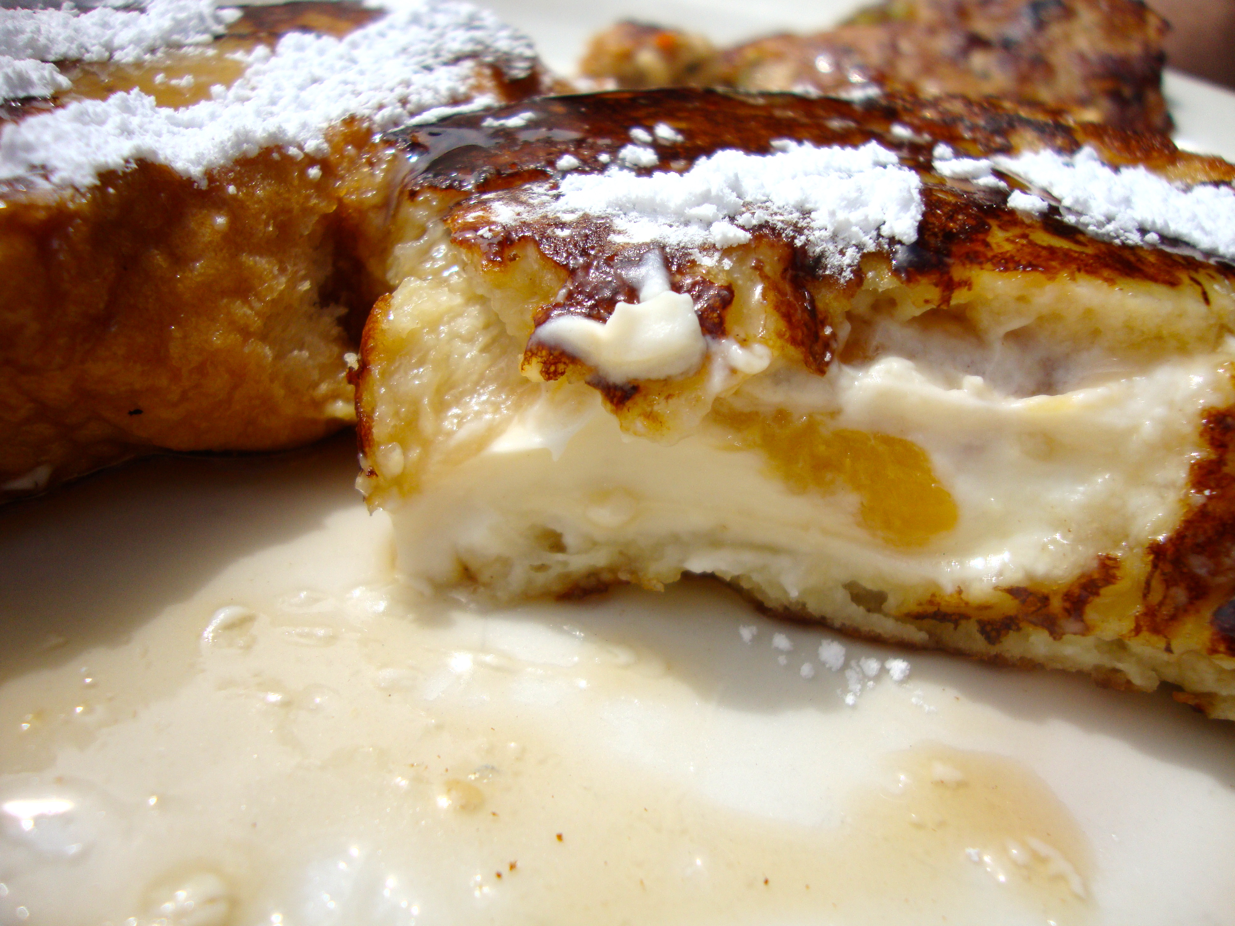 Peaches And Cream Stuffed French Toast Recipes — Dishmaps