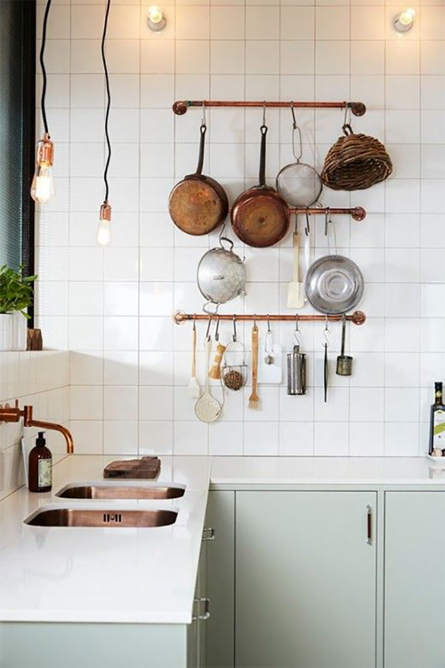 Kitchen with copper