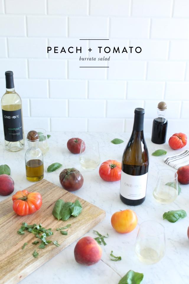 Peach Tomato Burrata Salad