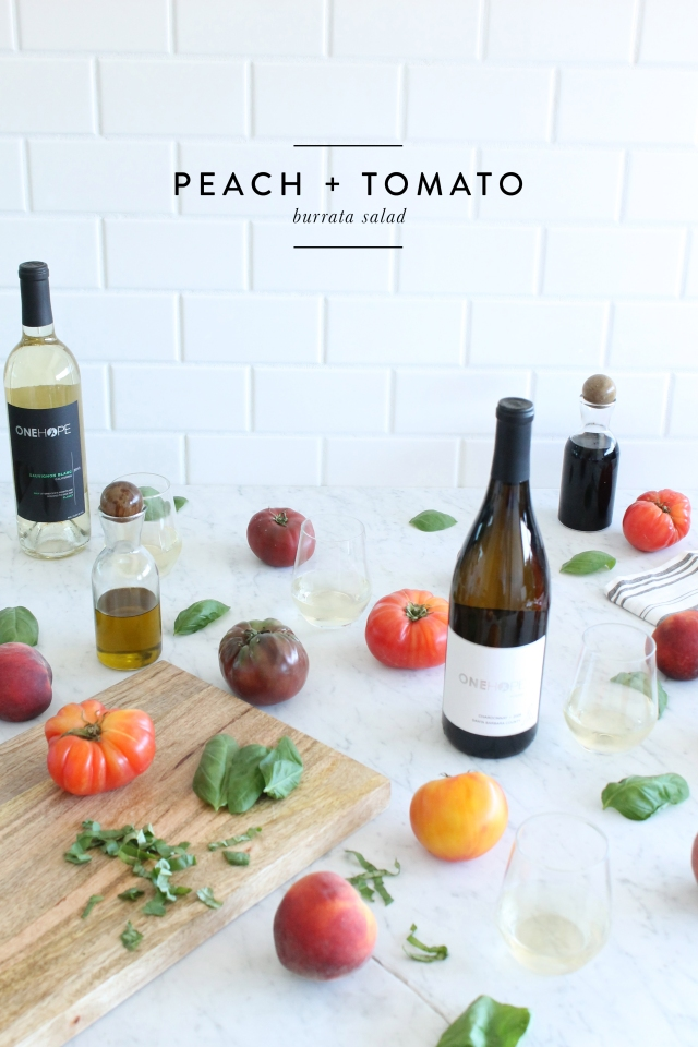 Peach Tomato Burrata Salad