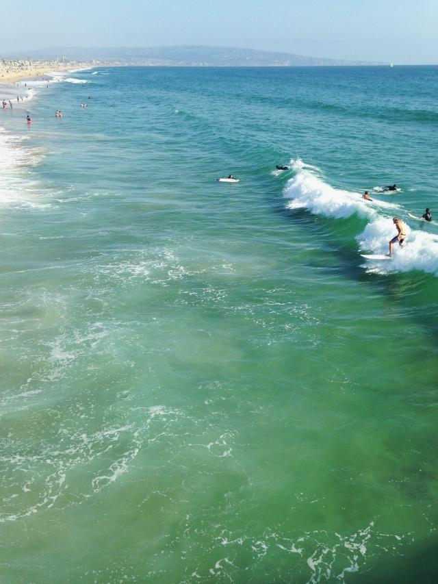 Surfers Manhattan Beach Pier 3